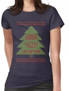 Christmas Vacation Ugly Sweater Womens Fitted T-Shirt