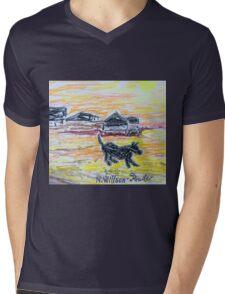 Beach Dog Mens V-Neck T-Shirt