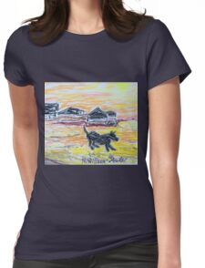 Beach Dog Womens Fitted T-Shirt