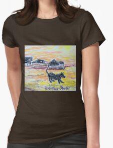 Beach Dog Womens Fitted T-Shirt