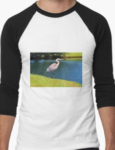 Beautiful Blue Heron Men's Baseball ¾ T-Shirt