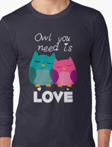 Owl You Need Is Love Long Sleeve T-Shirt