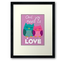 Owl You Need Is Love Framed Print