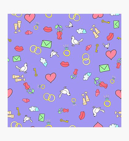 Seamless pattern with hearts.  Photographic Print
