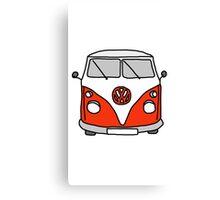 VW camper red Canvas Print