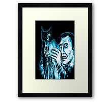 The Black cat reveals the gallows Framed Print