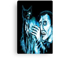 The Black cat reveals the gallows Canvas Print