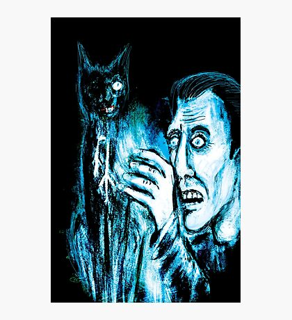 The Black cat reveals the gallows Photographic Print