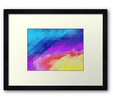 Pixel Rainbow Framed Print