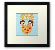 Love At First Slice Framed Print