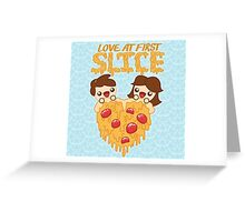 Love At First Slice Greeting Card