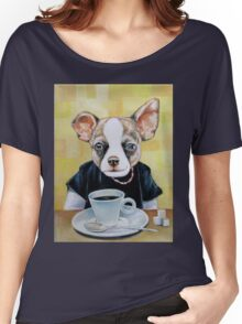 Puppy Coffee House Women's Relaxed Fit T-Shirt