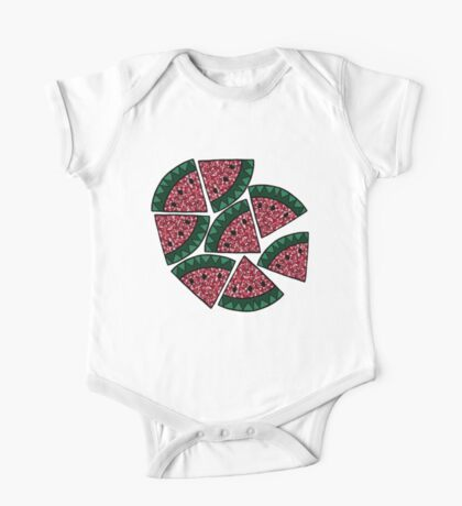 Mosaic Watermelon Slice One Piece - Short Sleeve