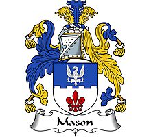 Mason Coat of Arms / Mason Family Crest Photographic Print