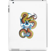 Traditional Tattoo Snake and Skull iPad Case/Skin