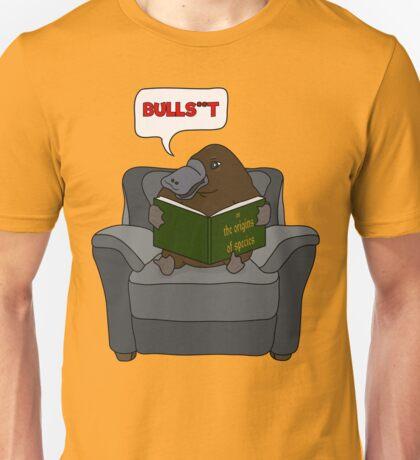 Platypus reads Darwin Unisex T-Shirt