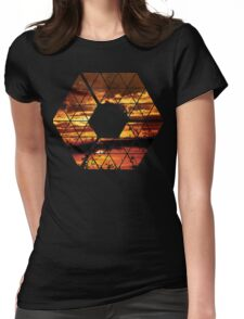 C is for CLOUDS - Geometric Abstract Sunset Geometry Art Womens Fitted T-Shirt