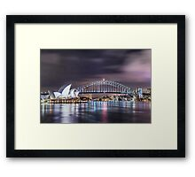 Rock Into The Night Framed Print