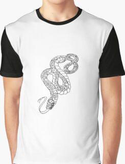 American Traditional Snake Rose Tattoo Graphic T-Shirt