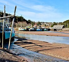 Fishing Boats at Low Tide I by Kathleen Daley