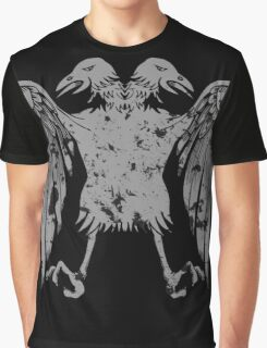 Heraldic Eagle Grunge Heraldry Cool Distressed Design Graphic T-Shirt