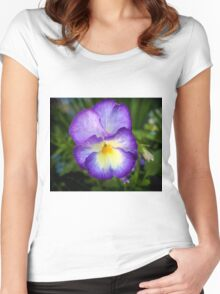 Pansy flower Women's Fitted Scoop T-Shirt
