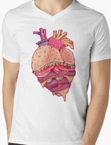 Inner Fast Food Mens V-Neck T-Shirt