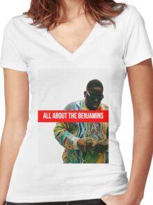 Biggie Supreme Women's Fitted V-Neck T-Shirt