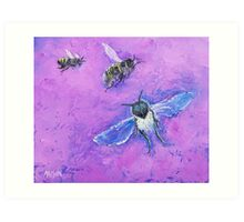 Bees painting Art Print
