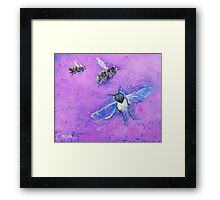 Bees painting Framed Print