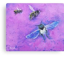 Bees painting Canvas Print