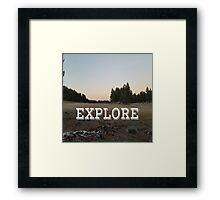 Explore Meadow Framed Print