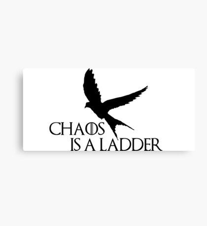 Chaos is a ladder Canvas Print