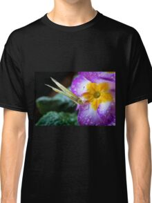 Yellow butterfly on purple flower Classic T-Shirt