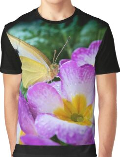 Yellow butterfly on purple flower Graphic T-Shirt