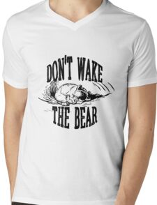 Don't Wake the Bear Mens V-Neck T-Shirt