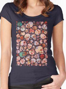 Skull Doodles Women's Fitted Scoop T-Shirt