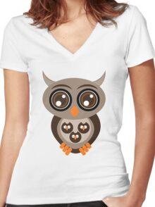 Best Owl T-Shirt Tee Unisex Women's Fitted V-Neck T-Shirt
