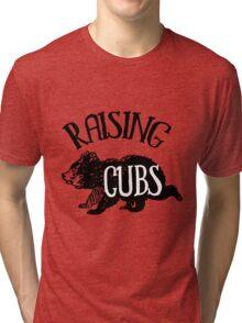 Raising Cubs - Mama/Papa Bear Tri-blend T-Shirt