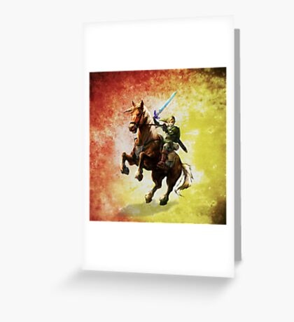 Legend Of Zelda Advanture Link Greeting Card