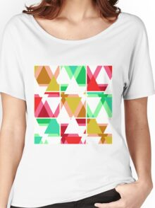 Seamless triangle bright pattern background geometric abstract texture Women's Relaxed Fit T-Shirt