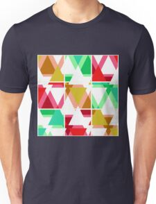 Seamless triangle bright pattern background geometric abstract texture Unisex T-Shirt