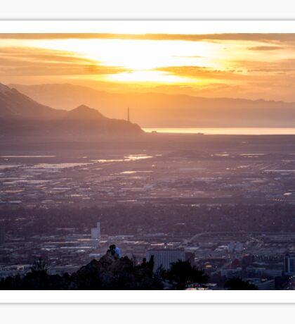 Salt Lake City Sunset Sticker
