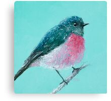 Rose Robin Bird painting Canvas Print