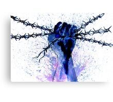 Hand with Barbed Wire Canvas Print