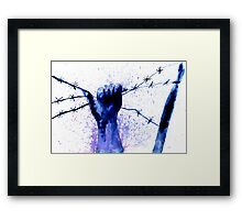 Hand with Barbed Wire 2 Framed Print