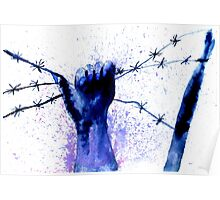 Hand with Barbed Wire 2 Poster