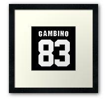 Gambino 83 Framed Print