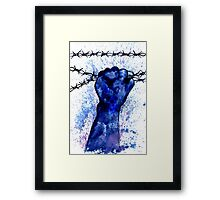 Hand with Barbed Wire 3 Framed Print