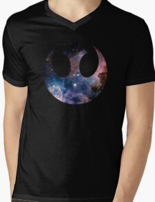 Rebel Alliance Symbol (Galaxy) Mens V-Neck T-Shirt